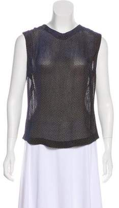 Rene Lezard Velvet Sleeveless Top
