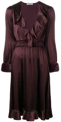 Blumarine ruffled midi dress