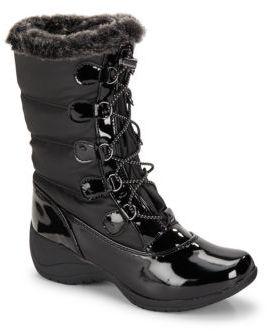 Faux Fur Trimmed Boots $89 thestylecure.com