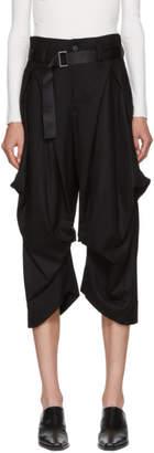 Issey Miyake Black Wool Voluminous Button Trousers