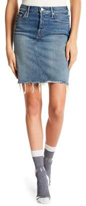 Mother Frayed Mini Denim Skirt