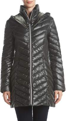 Laundry by Shelli Segal Puffer Jacket with Faux Fur Trim