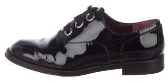 Marc Jacobs Patent Leather Round-Toe Oxfords
