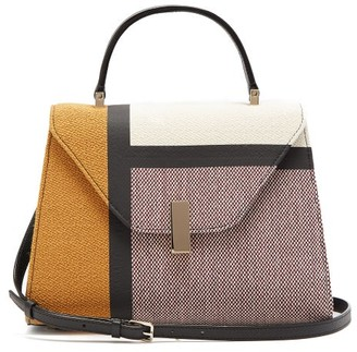 Valextra Iside Medium Colour Block Bag - Womens - Brown Multi