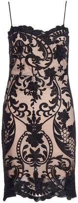 Quiz Black And Stone Mesh Bodycon Dress