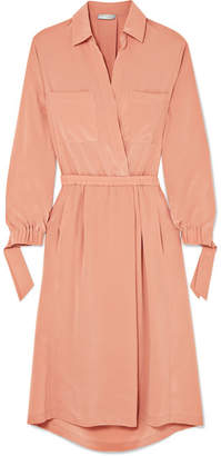 Vince Washed-silk Shirt Dress - Pink