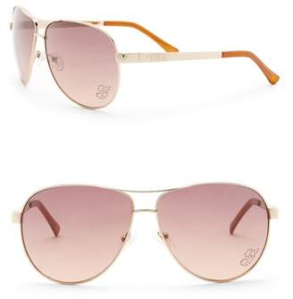 GUESS 63mm Aviator Sunglasses