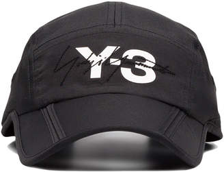 Y-3 black foldable logo cap