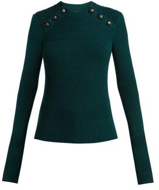 Etoile Isabel Marant Koyle Wool Sweater - Womens - Dark Green