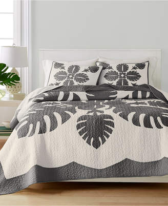 Martha Stewart Collection Maui Medallion Cotton Full/Queen Quilt, Created for Macy's