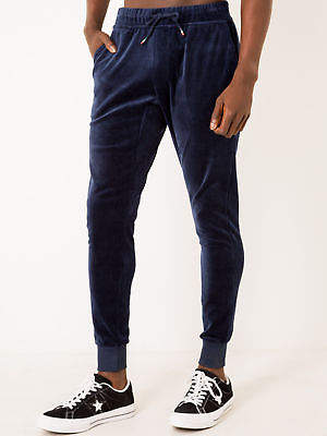Le Coq Sportif New Gullame Pants In Navy Velour Mens Pants & Chinos