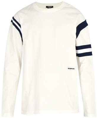 Calvin Klein Stripe-trim cotton crew-neck sweatshirt