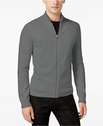 INC International Concepts I.n.c. Men In the Dark Full-Zip Sweater