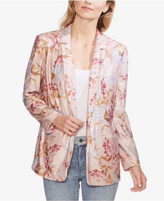 Vince Camuto Sequined Floral-Print Blazer