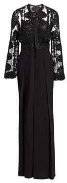 Murad Zuhair Embellished Blouson Sleeve Jumpsuit