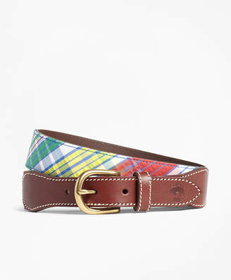 Brooks Brothers Madras Leather Belt
