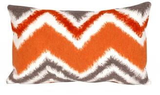 Liora Manné Trans Ocean Imports Zigzag Ikat Indoor Outdoor Throw Pillow