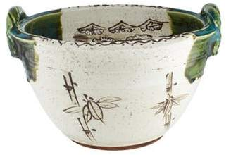Painted Ceramic Serving Bowl
