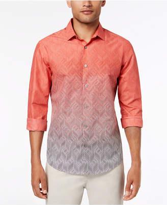 Alfani Men's Ombre Chevron-Print Shirt, Created for Macy's