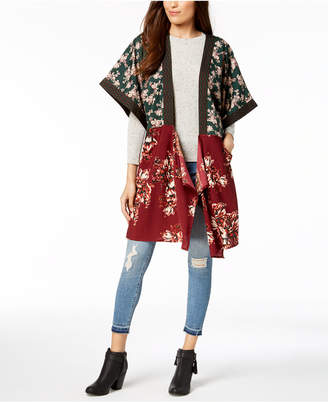 Steve Madden In Full Bloom Draped Kimono