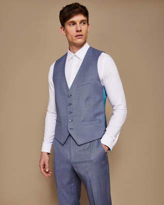 Ted Baker STRONGW Debonair slim plain wool waistcoat