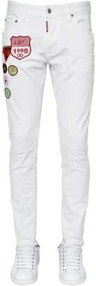 DSQUARED2 15cm Skinny Dan Patches Denim Jeans