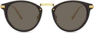 Ann Demeulemeester Ad28 oval-frame sunglasses