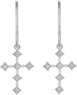 Stone Women's Divine Hoop-Top Earrings