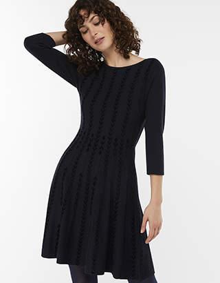 Christie Chenille Jacquard Jumper Dress