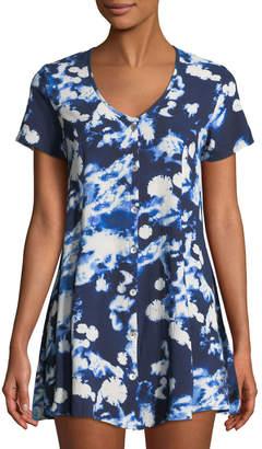 Show Me Your Mumu Bennett Babydoll Tie-Dye Mini Dress