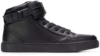 Versace lace-up hi-top sneakers