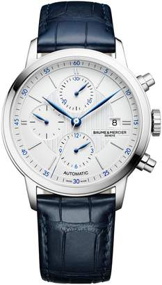 Baume & Mercier Classima Automatic Chronograph Alligator Leather Strap Watch, 42mm
