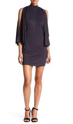 American Twist Cold Shoulder Knee Length Dress