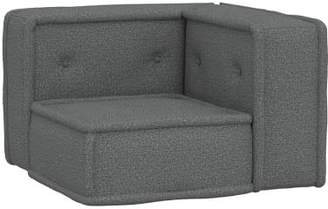 Pottery Barn Teen Cushy Lounge Corner Chair, Tweed Charcoal, QS UPS