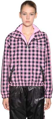 Natasha Zinko Checkerboard Nylon Track Jacket