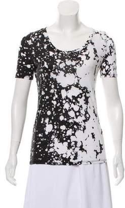 Diane von Furstenberg Short Sleeve Tie-Dye Top