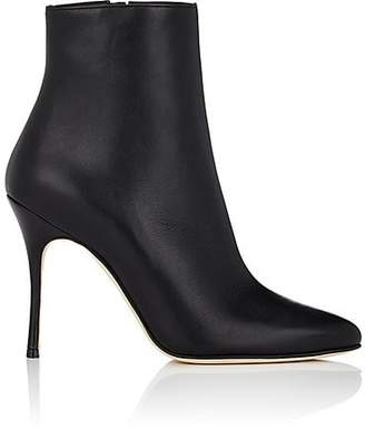 Manolo Blahnik Women's Insopo Leather Ankle Boots - Black Leather