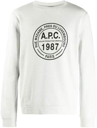 A.P.C. logo print jumper