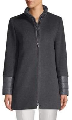 Cinzia Rocca Heathered Zip-Front Jacket