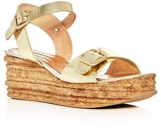 Andre Assous Belle Metallic Platform Wedge Sandals $195 thestylecure.com