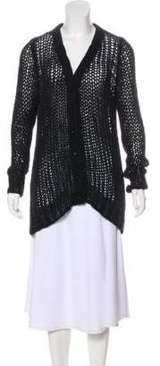 Saint Laurent Medium-Weight Long Sleeve Cardigan