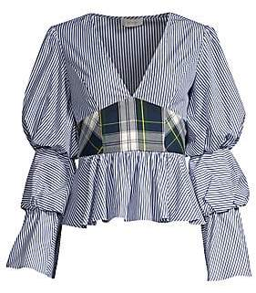 Petersyn Women's Randi Plaid Peplum Top