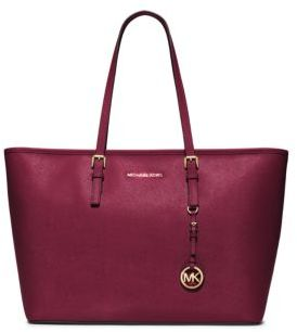MICHAEL MICHAEL KORS Jet Set Medium Saffiano Leather Travel Tote $298 thestylecure.com