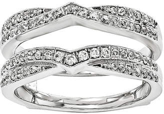 MODERN BRIDE 3/8 CT. T.W. Diamond 14K White Gold Ring Guard