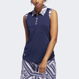11616876b1f8a adidas Ultimate365 Printed Sleeveless Polo Shirt