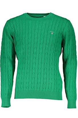 Gant Men's Cable Cotton Crewneck Sweater