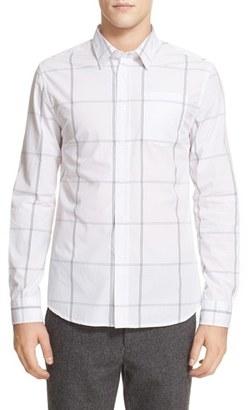 Men's Saturdays Nyc 'Reed' Windowpane Plaid Sport Shirt $125 thestylecure.com