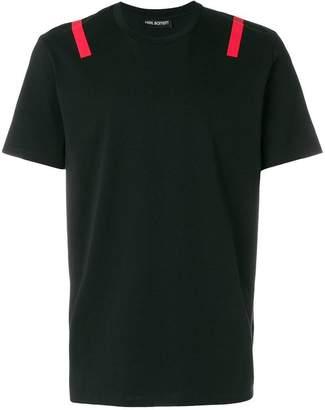 Neil Barrett stripe detail T-shirt