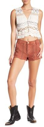 Free People Great Expectations Embroidered Shorts