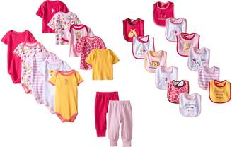 Luvable Friends Baby-Girls 24 Piece Deluxe Safari Gift Cube
